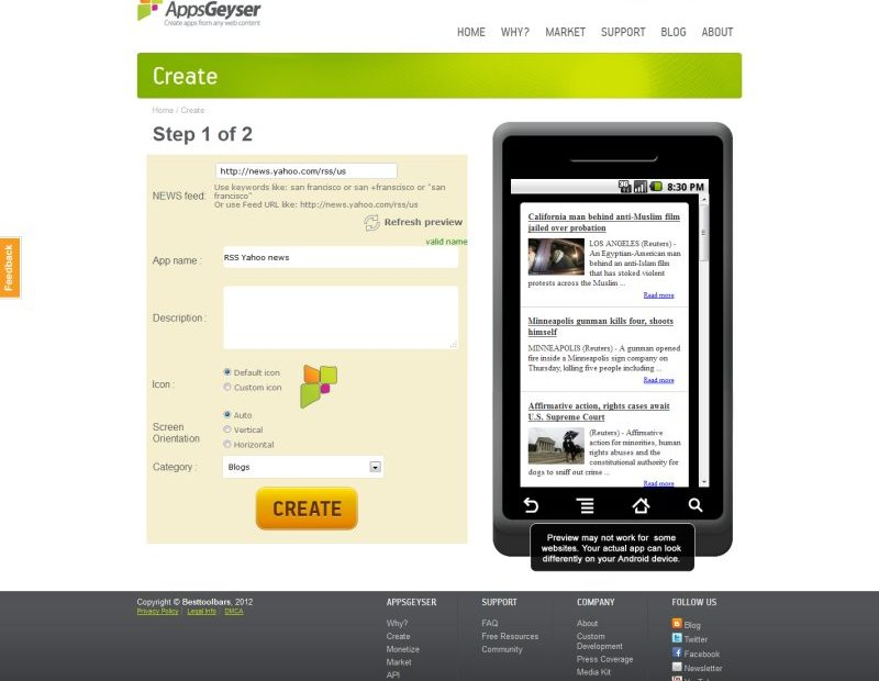 blogul intr-o aplicatie Android